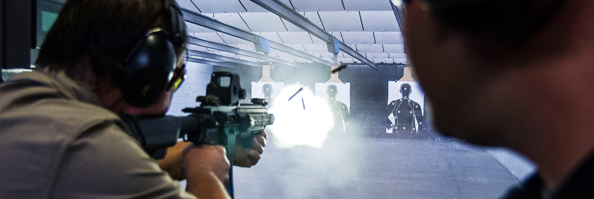 Firearm rentals including pistols, shotguns, sporting rifles, and fully automatic machine guns